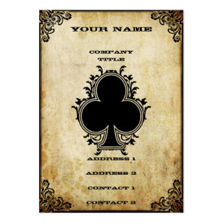 Grunge Ace of Clubs Business Card Templates
