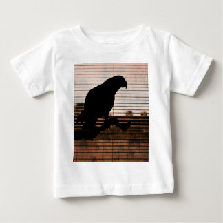 Grunge African Grey Parrot Silhouette Shirts
