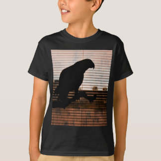 Grunge African Grey Parrot Silhouette T-Shirt