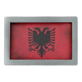 Grunge Albanian Flag [High Quality] Rectangular Belt Buckles