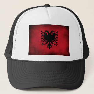 Grunge Albanian Flag [High Quality] Trucker Hat