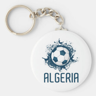 Grunge Algeria Basic Round Button Key Ring
