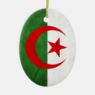 Grunge Algeria National Flag Christmas Ornament