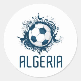 Grunge Algeria Round Sticker