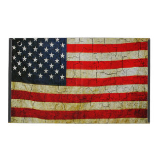Grunge America flag iPad Case