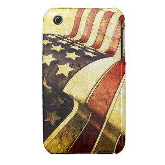 Grunge American Flag Design Blackberry Curve case
