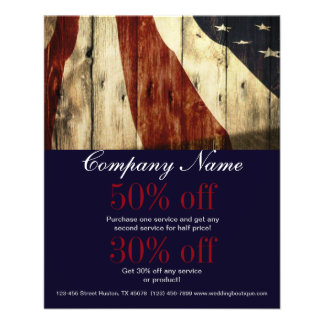 grunge american flag wood construction business flyers