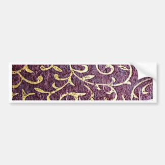 Grunge amethyst,vintage, paper, royal,gold floral bumper sticker