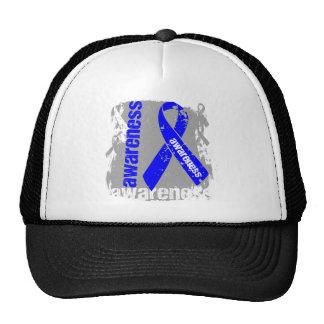 Grunge Anal Cancer Awareness Trucker Hats