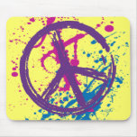 GRUNGE AND SPLATTER PEACE SIGN