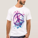 GRUNGE AND SPLATTER PEACE SIGN T-Shirt