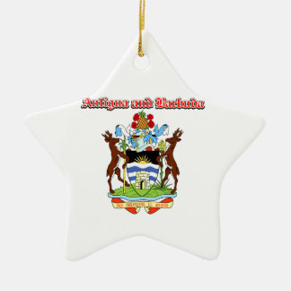Grunge Antigua and Barbuda coat of arms designs Christmas Tree Ornament