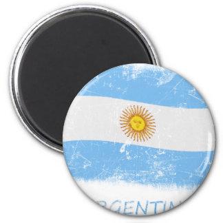 Grunge Argentina Flag Magnet