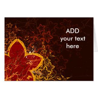 Grunge art greeting card
