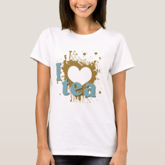 Grunge Art I Heart Love Tea T-Shirt