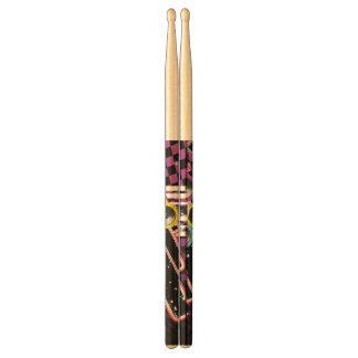 Grunge background drumsticks