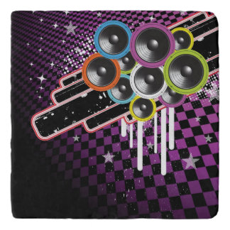 Grunge background trivet