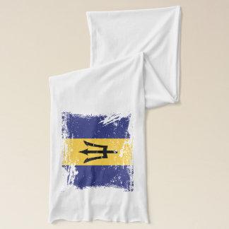 Grunge Barbados Flag Scarf