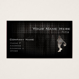 Grunge Basketball Business Card