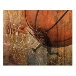 Grunge Basketball Print