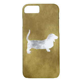 grunge basset hound iPhone 7 case