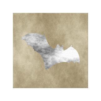 Grunge Bat Canvas Print