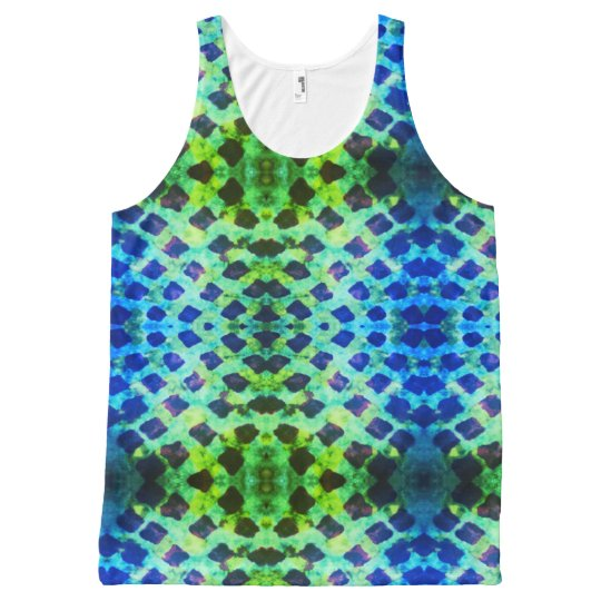 Grunge batik brights All-Over print tank top