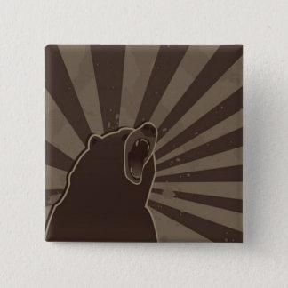 Grunge Bear 15 Cm Square Badge