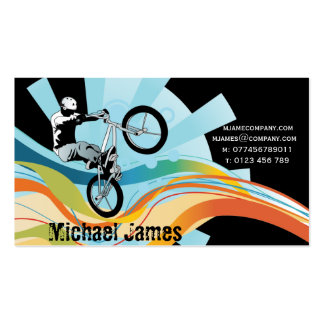 grunge bicycle business card