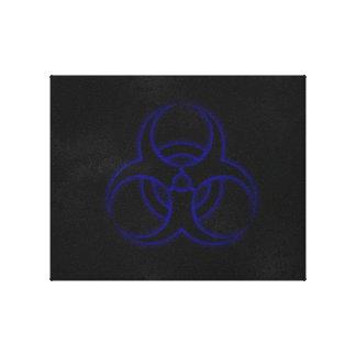Grunge Biohazard Canvas Print