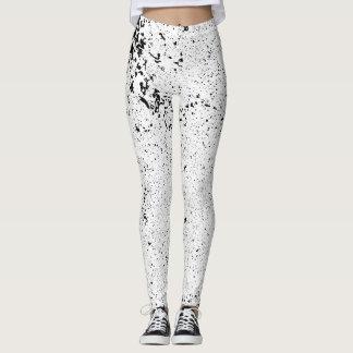 Grunge black and white leggings. leggings