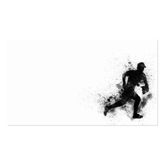 GRUNGE BLACK SPLATTER BASEBALL LOGO DIGITAL ART BUSINESS CARD TEMPLATES