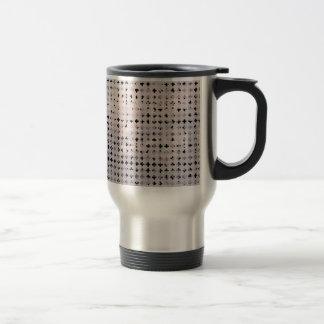 Grunge Black White Faded Cross Geometric Pattern Stainless Steel Travel Mug