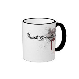 Grunge Blood Splatter South Carolina Mug