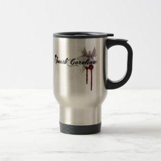 Grunge Blood Splatter South Carolina Travel Mug