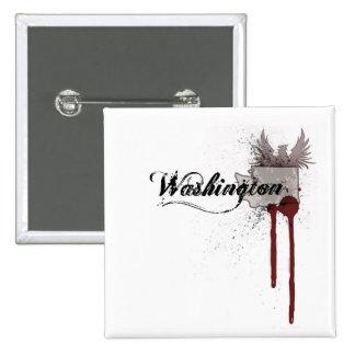 Grunge Blood Splatter Washington Button