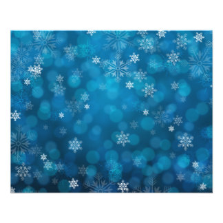 "grunge blue snow abstract pattern 4.5"" x 5.6"" flyer"