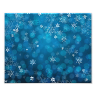 grunge blue snow abstract pattern photo print