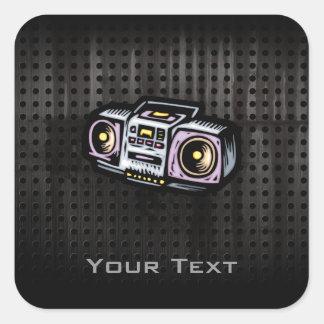 Grunge Boombox Square Sticker