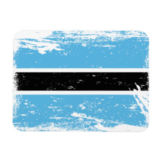 Grunge Botswana Flag Magnet