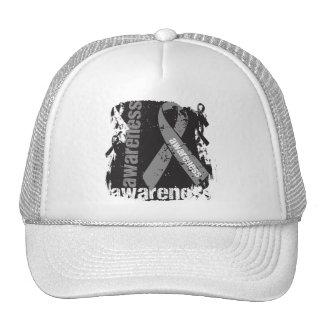 Grunge Brain Cancer Awareness Cap