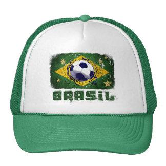 Grunge brazil soccer flag gifts cap