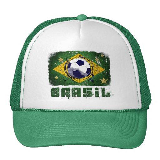 Grunge brazil soccer flag gifts trucker hats