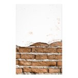 Grunge brick wall customized stationery
