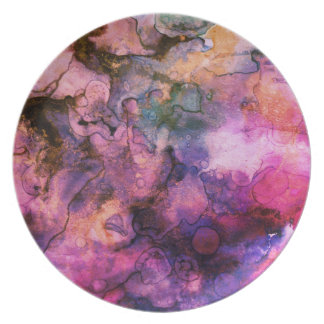 Grunge Bright Watercolor Ink Background Plate