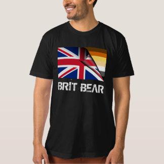 Grunge Brit Bear Pride Union Jack Tee Shirt