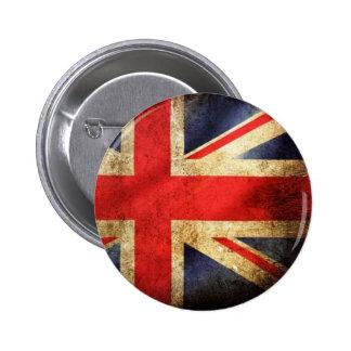 Grunge British Flag Button