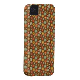 Grunge Brown Floral Retro iPhone 4 Case-Mate Case