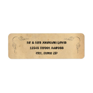 Grunge Brown Paper Address Labels