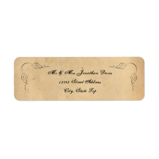 Grunge Brown Paper Address Labels